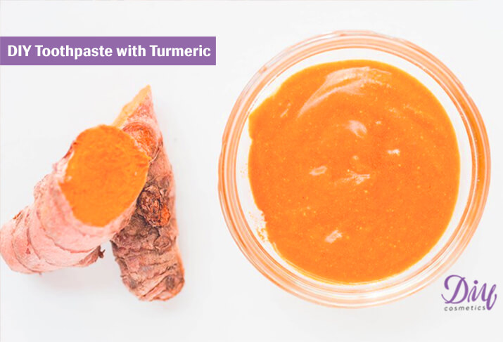 Homemade Toothpaste with Turmeric